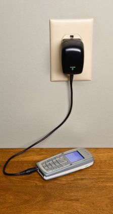 Narrow Cell Phone With Charger